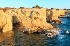 Surise Faraglioni at Torre Sant Andrea, Italy Royalty Free Stock Photos