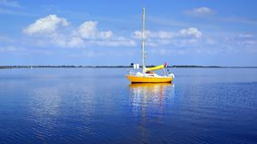 Picturesque seascape with sailboat Stock Photography