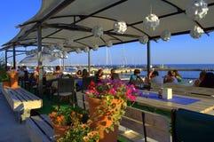 Picturesque seaside restaurant Royalty Free Stock Photos