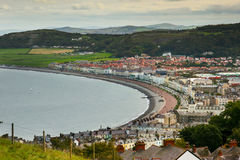 Picturesque seaside town Stock Images