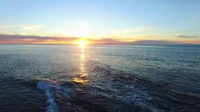 Picturesque shooting of sunset at the Pacific coast stock footage