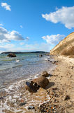 Picturesque shore on island Rugen in Northern Germany royalty free stock images