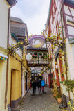 Picturesque side street in Bernkastel-Kues, Germany Royalty Free Stock Photos