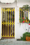 Picturesque slatted door and window royalty free stock image