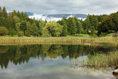 Picturesque small lake in Italy. Royalty Free Stock Photography