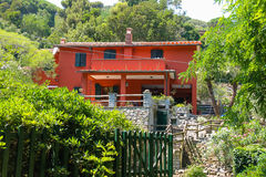 Picturesque small residential house on Elba Island, Marciana Royalty Free Stock Image