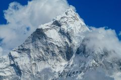 Himalaya mountain summit with snow glacier on top Royalty Free Stock Photography