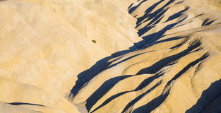 Picturesque soft waves from multi-coloured sandstone. Death vall Royalty Free Stock Photography