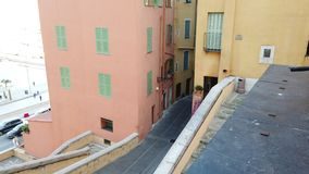 Picturesque Stairs In The Old City Of Menton France stock video