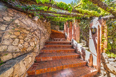 Picturesque stairs in Sardinia Stock Image