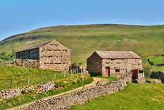 Picturesque Stone Barns Stock Photo