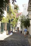 Picturesque stone street in Cadaques Royalty Free Stock Photos