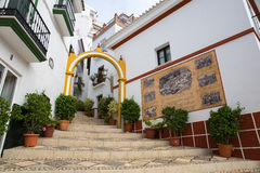Picturesque street of Almogia Royalty Free Stock Photos