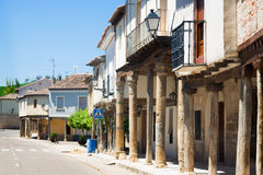 Picturesque street of Ampudia.  Palencia Royalty Free Stock Photos