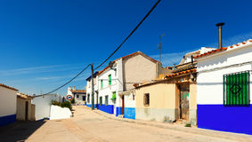 Picturesque street of Campo de Criptana Stock Photos