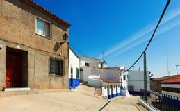 Picturesque street of Campo de Criptana Stock Photos