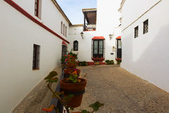 Picturesque street in european city. Arcos de la Frontera Royalty Free Stock Photography