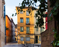 Picturesque street in  european city. Logrono Royalty Free Stock Photos