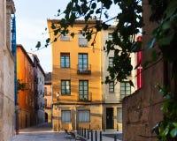 Picturesque street in  european city. Logrono Royalty Free Stock Photos