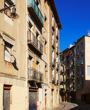 Picturesque street of european city. Pamplona Royalty Free Stock Image