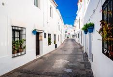 Picturesque street of Mijas Royalty Free Stock Photos