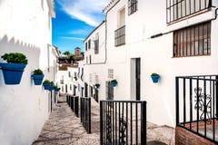 Picturesque street of Mijas Stock Image