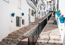 Picturesque street of Mijas Stock Photo