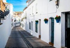 Picturesque street of Mijas Stock Photography