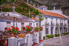 Picturesque street of Mijas. Charming white village in Andalusia Stock Photo