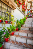 Picturesque street of Mijas. Charming white village in Andalusia Royalty Free Stock Photography