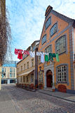 Picturesque street of old Riga Royalty Free Stock Photography