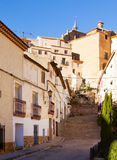 Picturesque  street in spanish city. Chinchilla Stock Photos