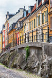 Picturesque street in Stockholm. Royalty Free Stock Photos