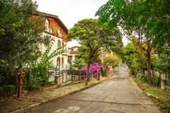 The picturesque streets of the island Buyukada