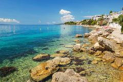 Picturesque summer landscape of Dalmatian coast in Brist, Croatia Stock Images