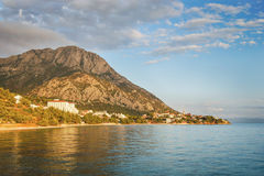Picturesque summer landscape of Dalmatian coast in Gradac, Croatia Royalty Free Stock Image