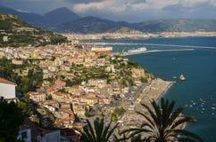 Picturesque summer landscape of vietri sul mare beach, Italy. Stock Photo