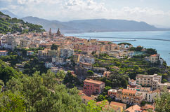 Picturesque summer landscape of vietri sul mare beach, Italy. Royalty Free Stock Images