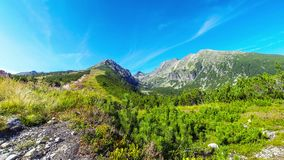 Picturesque summer view of High Tatras mountains, Slovakia stock video