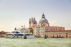Picturesque summer view of Venice with famous water canals  and Stock Photo