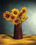 Picturesque Sunflower Bouquet. Still life Royalty Free Stock Image