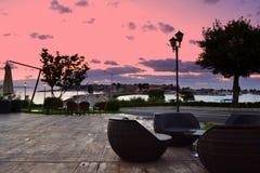 Picturesque sunrise Stock Photos