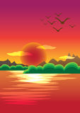 Picturesque Sunset Royalty Free Stock Images