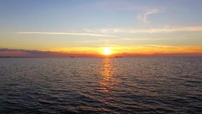 Picturesque Sunset Over The Black Sea in Crimea stock video