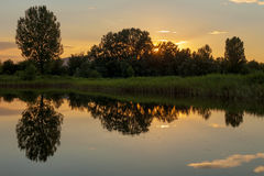 Picturesque sunset Stock Images