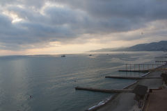 Picturesque sunset in Sochi Royalty Free Stock Photography