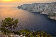 A picturesque sunset view at Kampi, Zakynthos Royalty Free Stock Image
