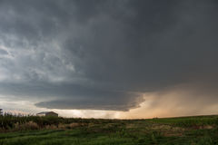 A picturesque supercell thunderstorm spins over the high plains of eastern Colorado Stock Photo