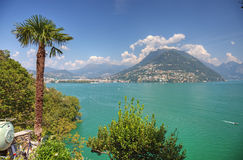 Picturesque swiss lake Stock Image