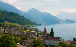 Picturesque Swiss town Royalty Free Stock Image